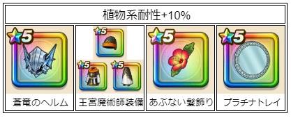 植物系耐性+10%装備